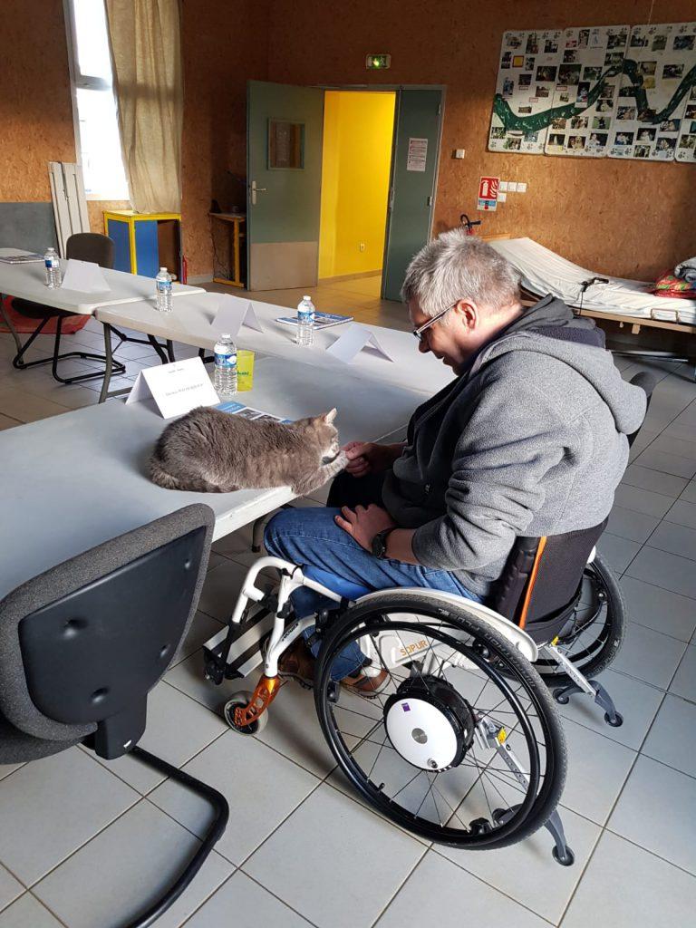 1. Tag Thomas mit Katze